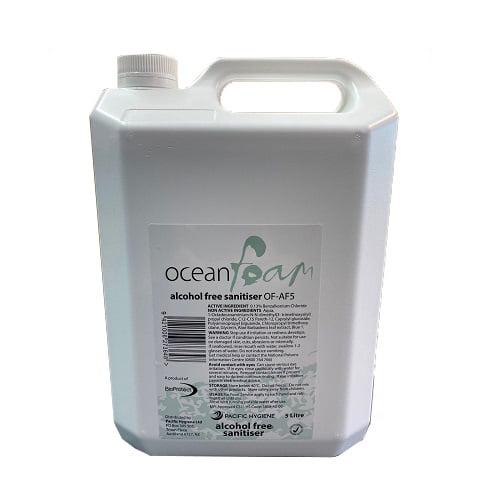 Ocean Foam Alcohol Free Hand Sanitiser 5 Litre